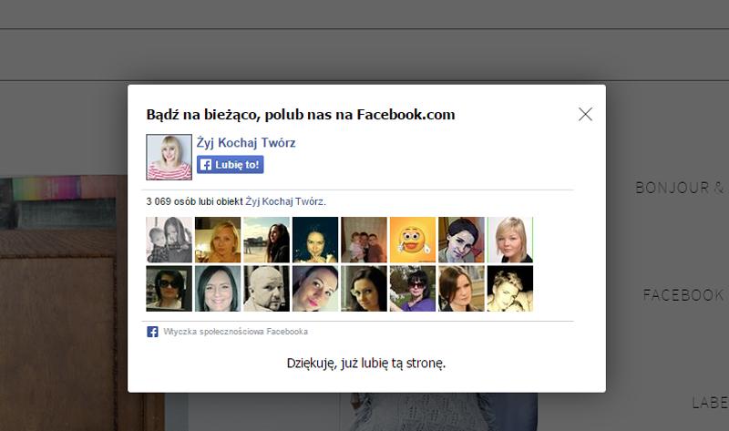 Facebook-pop-up