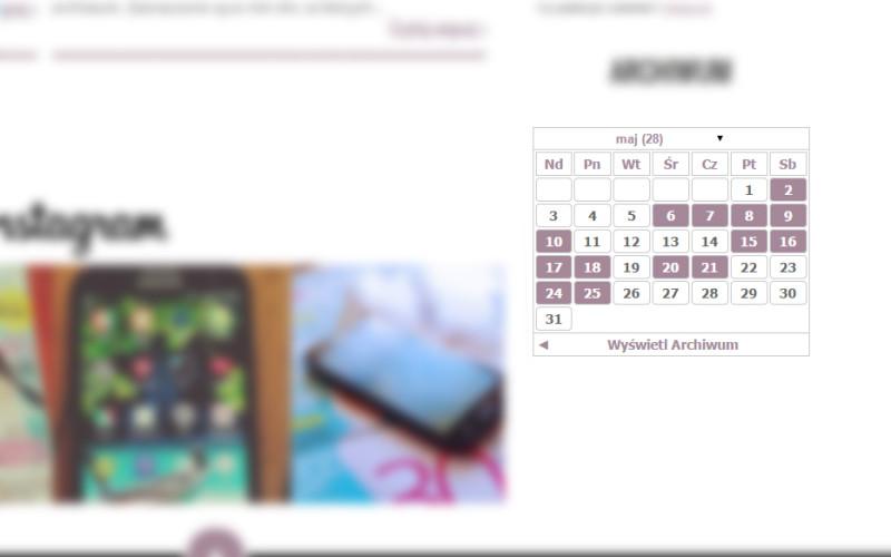 kalendarz postów blogger