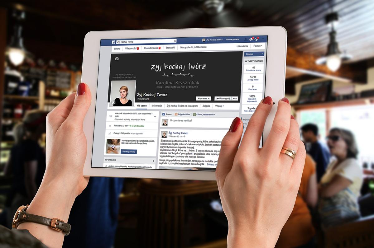 Facebook – fanpage spójny z wizerunkiem Twojego bloga lub biznesu.