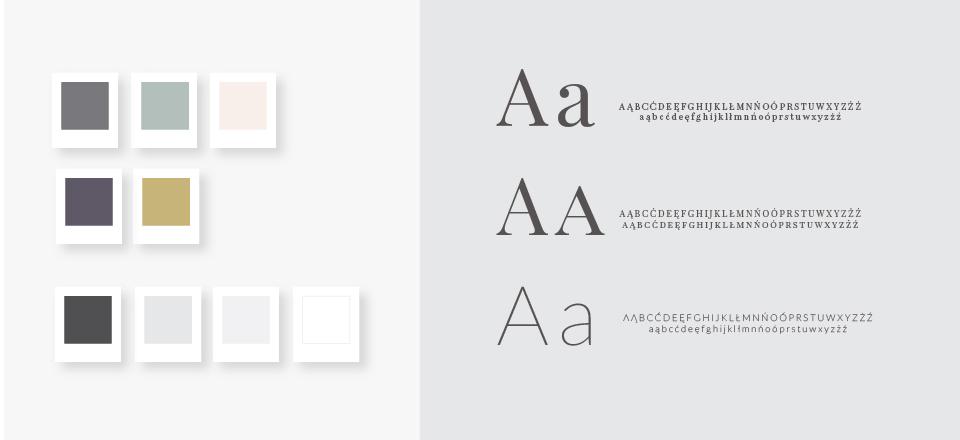 paleta kolorów i fonty